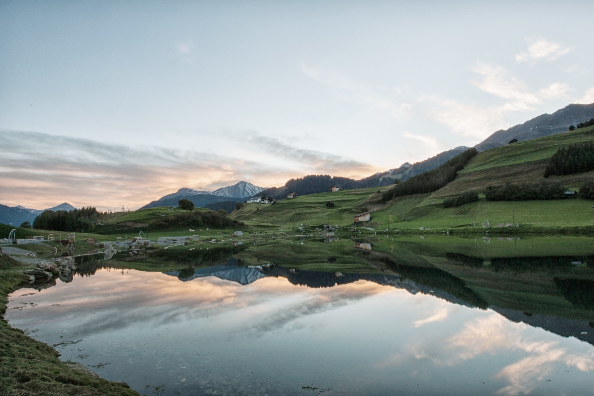 Wolfsee im Sommer Sonnenuntergang