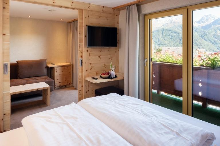 Alpin Suite Bett Panorama vorne
