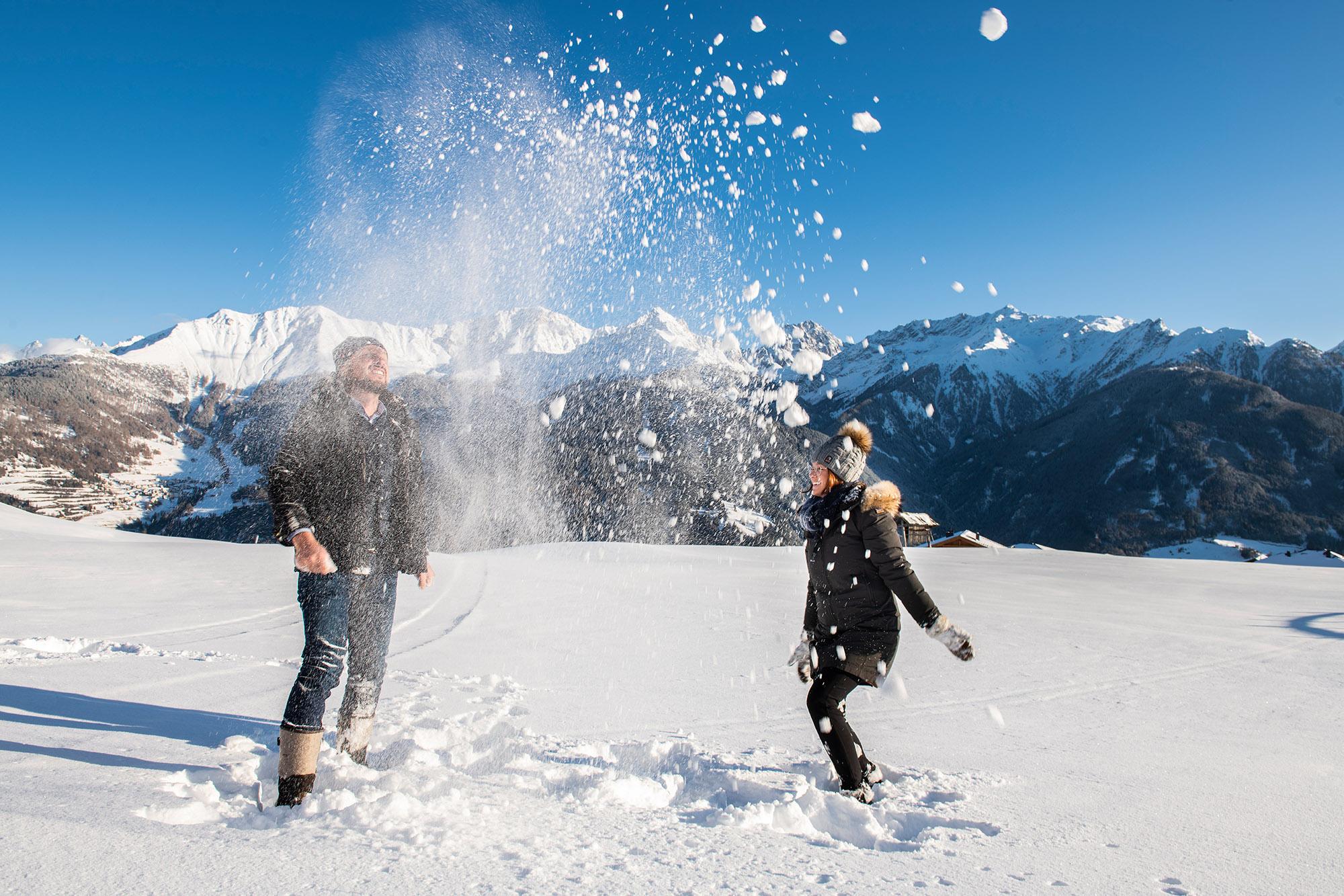 Gastgeber im Schnee