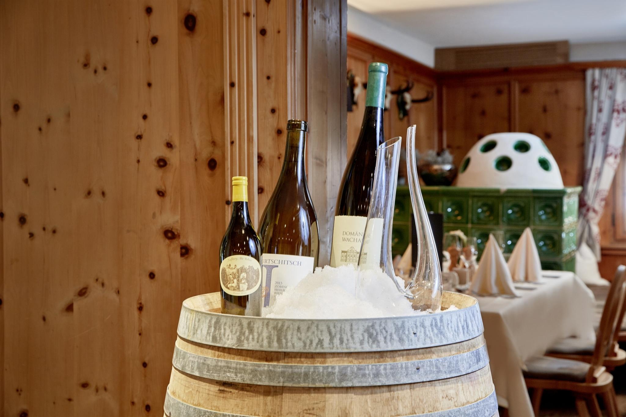 Restaurant Fass mit Wein